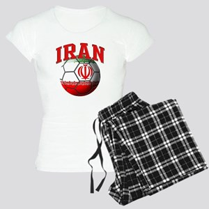 Flag of Iran Soccer Ball Women's Light Pajamas
