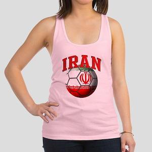 Flag of Iran Soccer Ball Racerback Tank Top