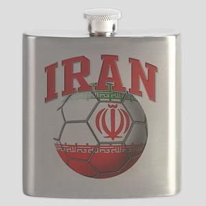 Flag of Iran Soccer Ball Flask