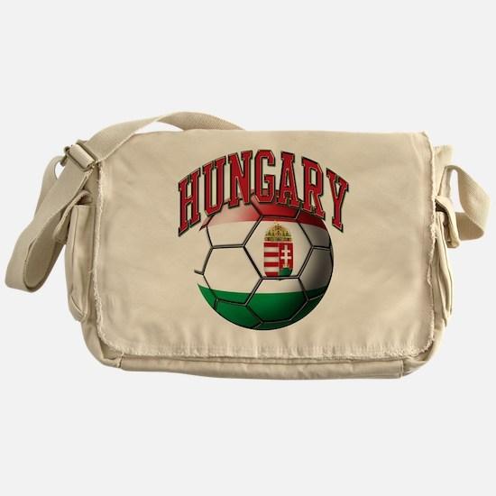 Flag of Hungary Soccer Ball Messenger Bag