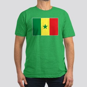 Senegal Flag Men's Fitted T-Shirt (dark)