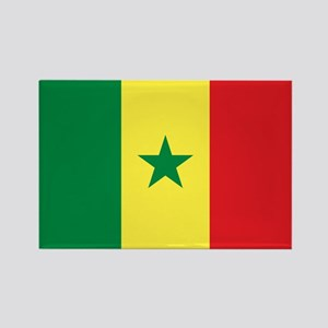 Senegal Flag Rectangle Magnet