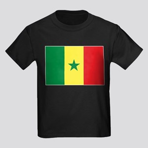 Senegal Flag Kids Dark T-Shirt