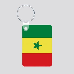 Senegal Flag Aluminum Photo Keychain