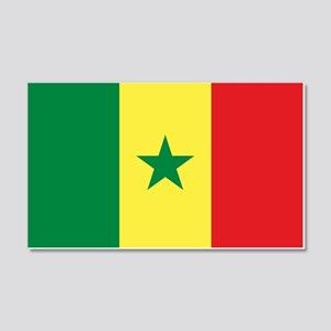 Senegal Flag 20x12 Wall Decal
