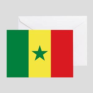 Senegal Flag Greeting Card