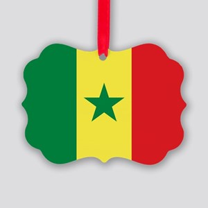 Senegal Flag Picture Ornament