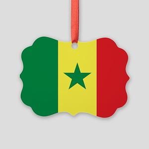 Senegal Flag Picture Ornament