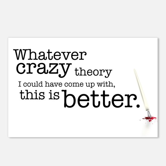 crazy theory Postcards (Package of 8)