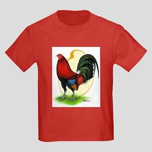 Red Gamecock3 Kids Dark T-Shirt