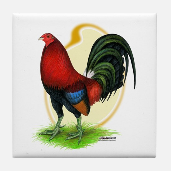 Red Gamecock3 Tile Coaster