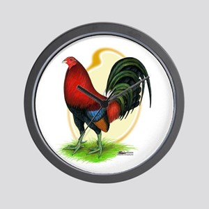 Red Gamecock3 Wall Clock