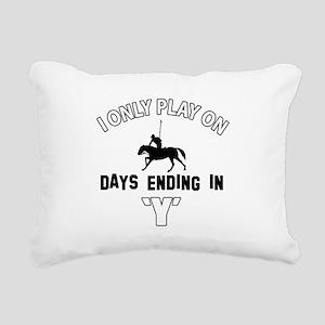 Cool horsepolo designs Rectangular Canvas Pillow