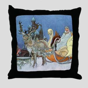 Snow Queen Ice Princess Throw Pillow