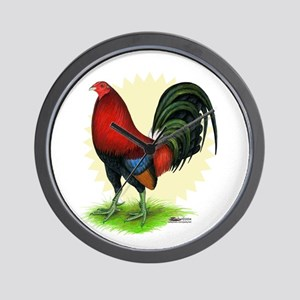Red Gamecock2 Wall Clock