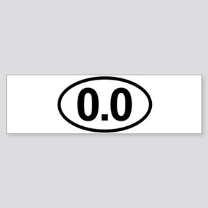 0.0 Zero Marathon Runners Run Bumper Sticker