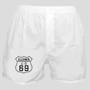Illinois US Route 69 Boxer Shorts