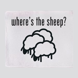Where's The Sheep? Throw Blanket