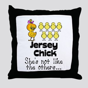 jersey chick1 Throw Pillow