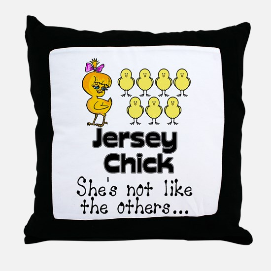 jersey chick1.png Throw Pillow