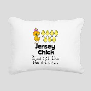 jersey chick1 Rectangular Canvas Pillow