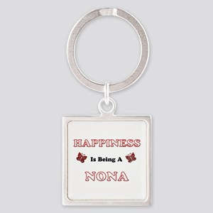 Happiness Is Being A Nona Keychains