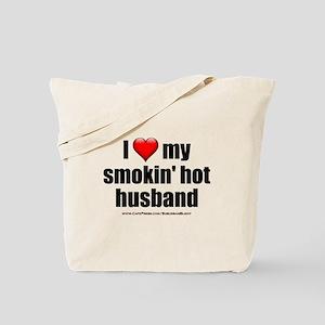 """Love My Smokin' Hot Husband"" Tote Bag"