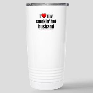 """Love My Smokin' Hot Husband"" Stainless Steel Trav"