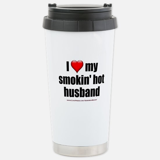 """Love My Smokin' Hot Husband"" Stainless Steel Trav"