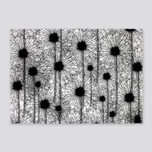 Fluffy Dandelions 5'x7'Area Rug