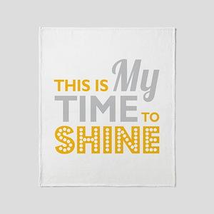 Time To Shine Throw Blanket