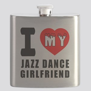 I Love My Jazz Dance Girlfriend Flask