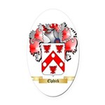 Elphick Oval Car Magnet