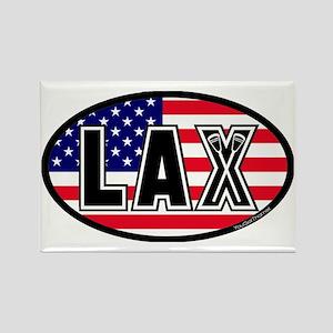 Lacrosse_Flag_America_Large. Rectangle Magnet