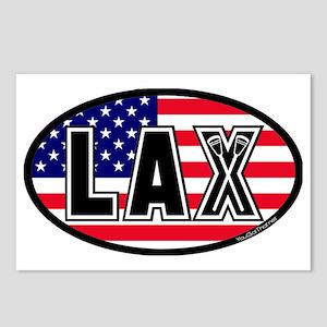 Lacrosse_Flag_America_Lar Postcards (Package of 8)