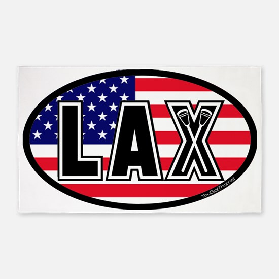 Lacrosse_Flag_America_Large. 3'x5' Area Rug
