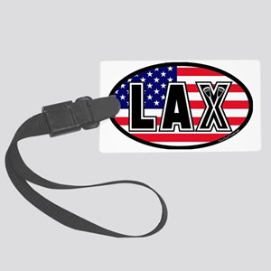 Lacrosse_Flag_America_Large. Large Luggage Tag