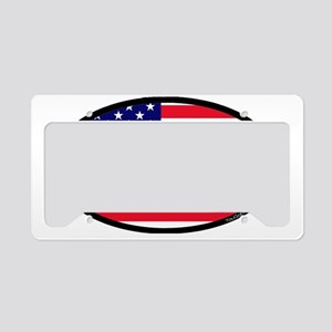 Lacrosse_Flag_America_Large. License Plate Holder