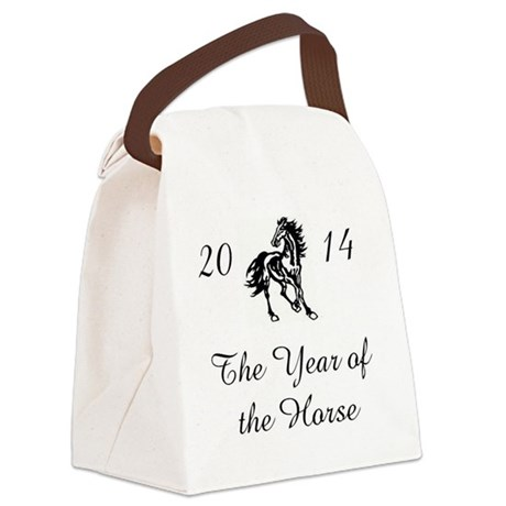 2014 -- The Year of the Horse Canvas Lunch Bag