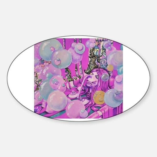 Cute Bubblebath Sticker (Oval)