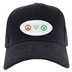 Peace, Love, Recycling Baseball Hat