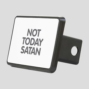 NOT TODAY SATAN Rectangular Hitch Cover