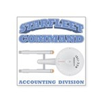 Starfleet Accounting Division Square Sticker 3