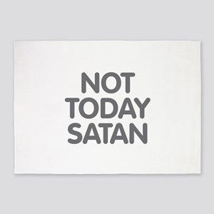 NOT TODAY SATAN 5'x7'Area Rug