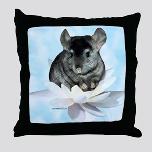 Chin Lily Blue Throw Pillow