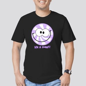 Purple Peppermint Smil Men's Fitted T-Shirt (dark)