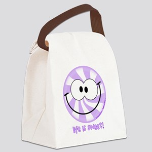 Purple Peppermint Smiley!  Life i Canvas Lunch Bag