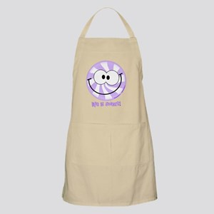 Purple Peppermint Smiley!  Life is Sweet! Apron