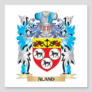 """Aland Coat Of Arms Square Car Magnet 3"""" x 3"""""""