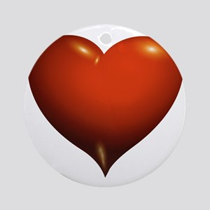 Heart of Love Round Ornament